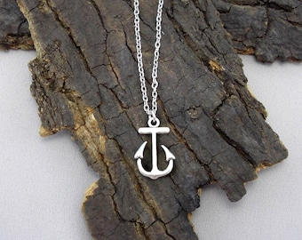 Chain necklace necklace anchor Maritim hope sailor silver