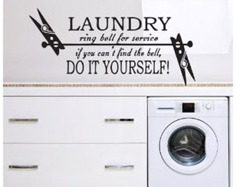 Laundry Decal - Vinyl Decal Wall Art