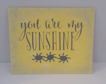Nursery Decor, You Are My Sunshine, Baby Decor, Yellow and Gray