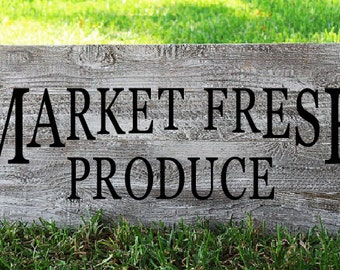 Market Fresh Produce Sign , Market Sign , Market Fresh Sign , Farmers Market Sign , Farmhouse Sign , Farmhouse Decor , Kitchen Sign
