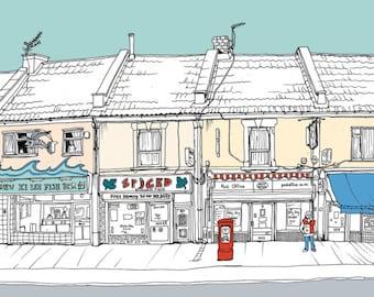Mina Road, St Werburghs, Bristol - Original Print - #bs2andbeyond