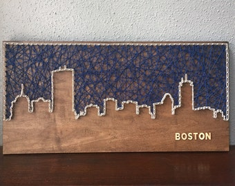 Boston Back Bay Skyline String Art