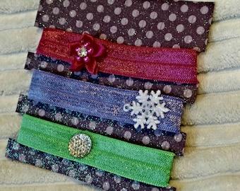 Winter Whimsy Elastic Tie Set