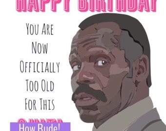 Funny Lethal Weapon Card • Agent Murtaugh Card • Movie Birthday Card • Comedy Birthday Card • Mens Birthday Card • Too Old for this
