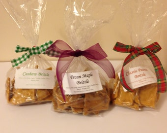 3 LB of Delicious Assorted Brittles. Maple Pecan, Cashew and Classic Peanut Brittles