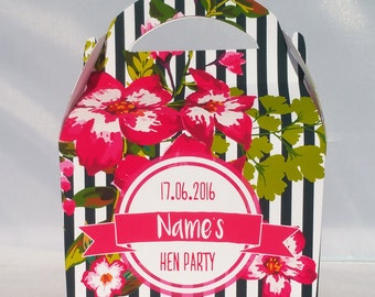 Personalised Baby Shower Party Favour Gift Box Bridal Shower Hen Do Wedding Celebration