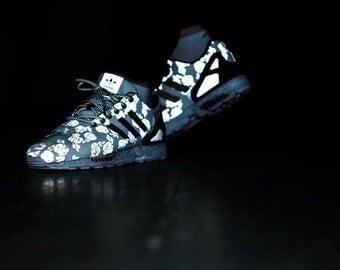 Custom Adidas ZX Flux Black/White by KLEDER