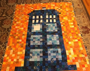 Twin Size TARDIS Dr Who Quilt