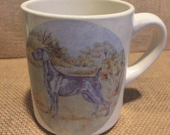 Vintage Weimaraner Mug Embroidery Design Gift