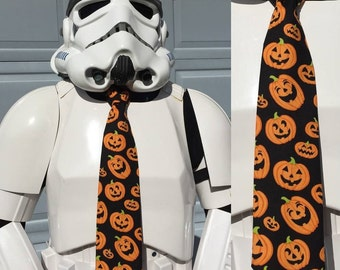Pumpkins Novelty Necktie - Tie Pumpkin Halloween Holiday All Hallow's Eve