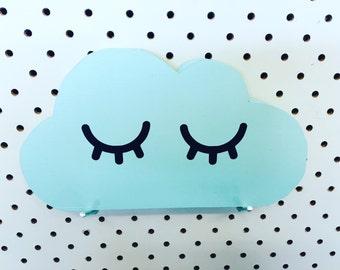 Wooden Sleepy Cloud Handmade