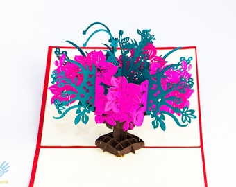 3D POP UP Love Cards,Any Occasion Gift Cards, Valentine Cards, Anniversary Cards, Thank You Card, Get Well Card, Handicraft Card (TK12)