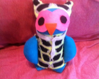 Handmade sock owls