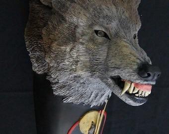 Timber Wolf Clock