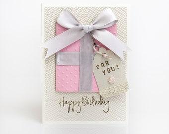 Elegant Handmade Birthday Card