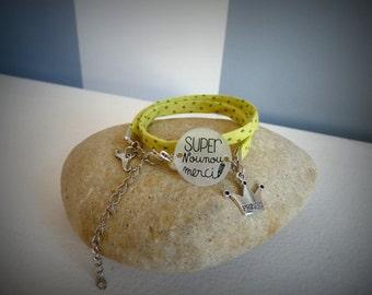 """Fabric bracelet """"great nanny"""""""