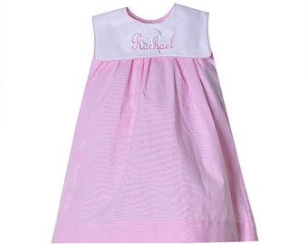Raspberry Caroline Float Dress with monogram option