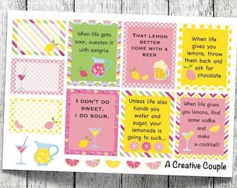 Snarky Lemonade Planner Stickers