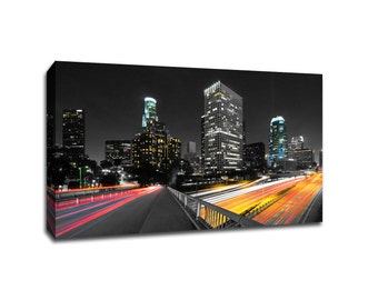 Los Angeles Touch of Color Skylines Canvas
