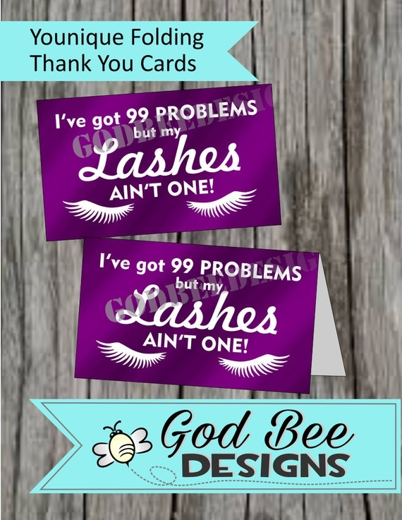 Items Similar To Younique Folding Note Cards 3 X 5 Thank You Cards