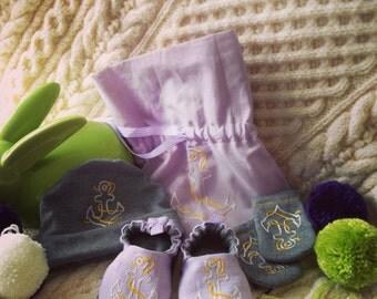 Bub'n'boots set for a newborn baby boy