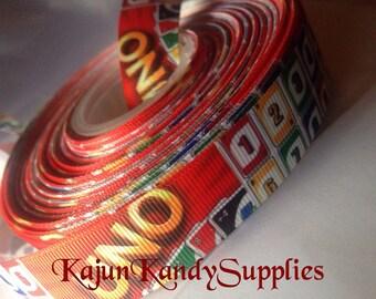 "1 Yard 1 Inch(25mm) ""UNO"" game printed ribbon"