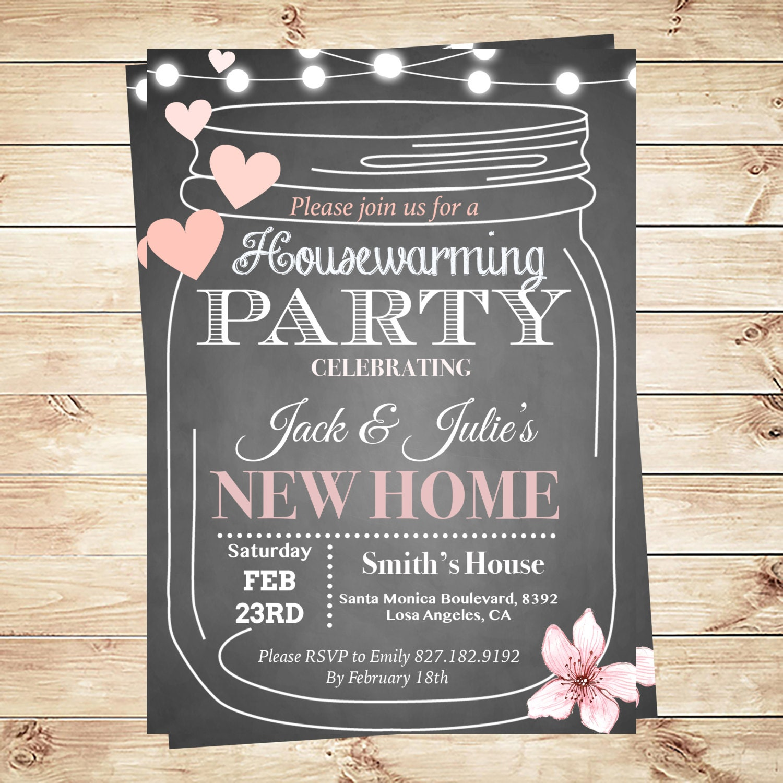 Tactueux image inside printable housewarming invitation