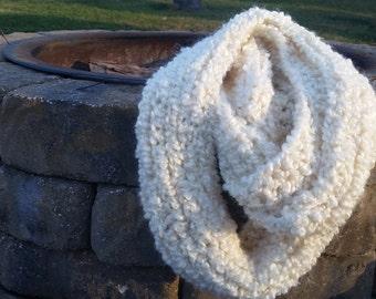 Soft Ivory Infinity Scarf
