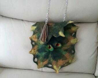 Bag merino wool wet felted