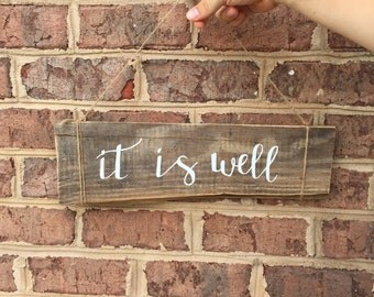 It Is Well - Wooden Wall Art