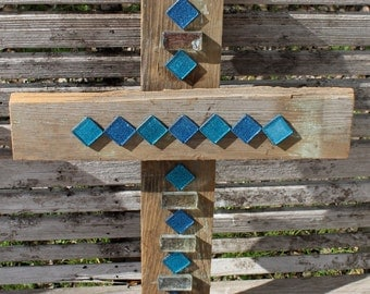 Decorative crosses, rustic cross wall decor, stained glass, unique wall crosses, decorative wall cross, reclaimed wood, stained glass cross