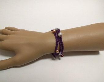 Pearl Hemp Bracelet