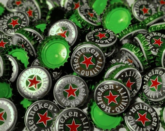 100 Heineken Recycled Beer Bottle Caps