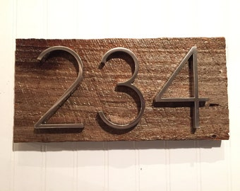 Rustic Address Plaques