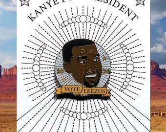 YEEZUS FOR PRESIDENT. Enamel Pin. Kanye West. 2020. Badge