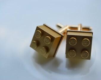 Gold Cufflinks (Lego)