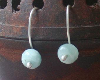 Sea Green Chrysoprase earrings