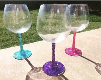 Blinged wine glasses