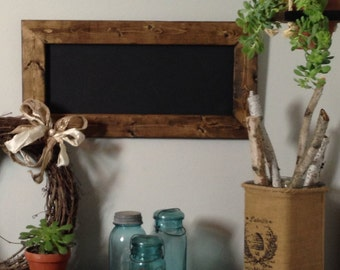 Rustic Wood Chalkboard Menu Board Wedding Sign 12x24