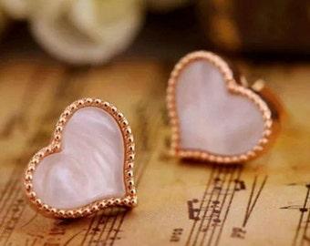White heart studs