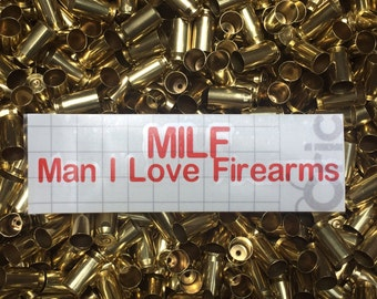 Man I Love Firearms Decal