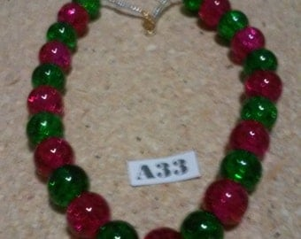 Christmas anklet