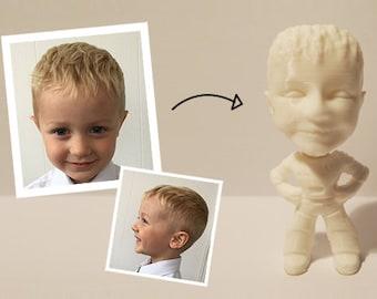 Their face on their own mini-action figure - 3D print
