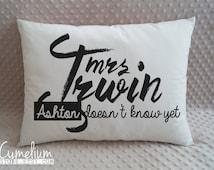 Ashton Irwin - mrs. Irwin - hand made pillow