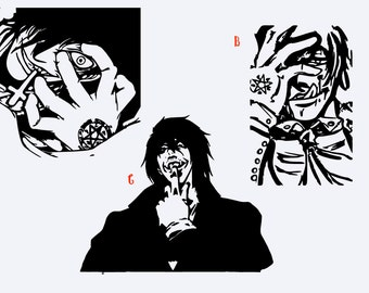 Alucard Decal from the Hellsing Anime