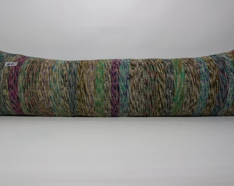 Anatolia Turkish Striped Kilim Pillow Cover 12x42 Rectangle Kelim Kissen Boho Pillow Bohemian pillow Ethnic pillow Sp30x106-40