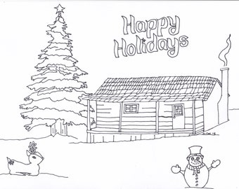 Happy Holidays Coloring Page to Help Those in Need
