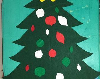 Wall Felt Christmas Tree for kids