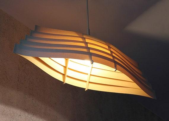 Wooden Boat Pendant Light 33 Natural Ash Veneer