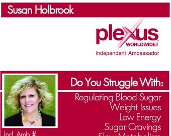Plexus Logo Business Card with Photo